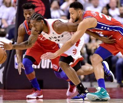 Leonard hits bouncer at buzzer, Raptors beat 76ers in Game 7