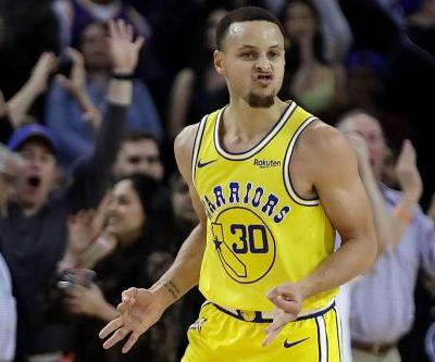 Stephen Curry drains 10 3-pointers as Warriors nip Kings