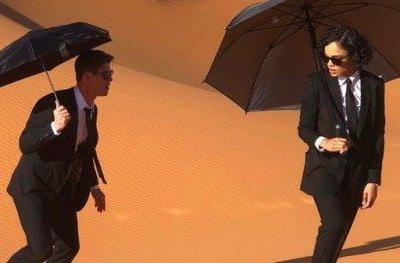 New Men in Black Photo Sends the Agents Running Through the