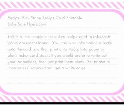 30 Beautiful Free 4×6 Recipe Card Template Pictures