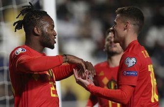 Hazard scores in 100th game as Belgium beats Cyprus