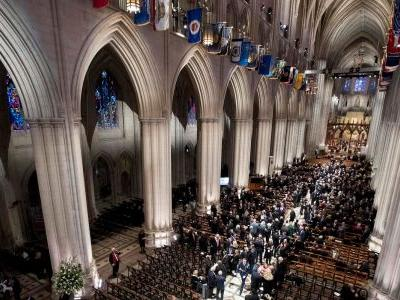 See moving photos from George HW Bush's state funeral, where every living president, foreign leaders, and celebrities paid their respects