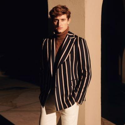 Chris Beek is a Striking Vision for Tagliatore Spring '19 Campaign