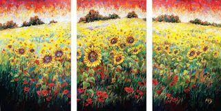 """New """"Field of Dreams"""" Palette Knife Oil Painting by Contemporary Impressionist Niki Gulley"""