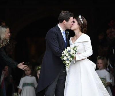 Princess Eugenie & Jack Brooksbank's First Kiss At Their Wedding Included The Cutest Convo