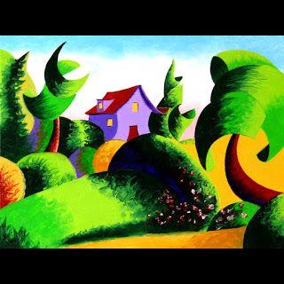 Mark Webster - Abstract Geometric Landscape Oil Painting - Virtual Paintout Gdansk