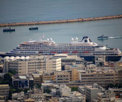 MS Prinsendam Cruise Ship Embarks in Haifa On a Mediterranean Cruise