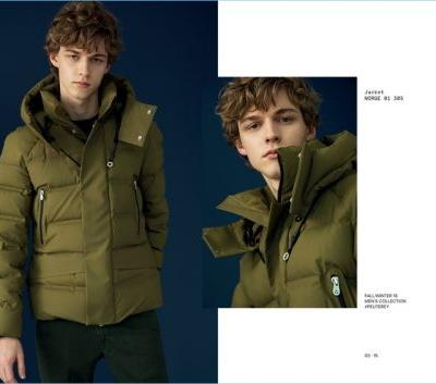Max Barczak Bundles Up in Peuterey Fall '18 Outerwear