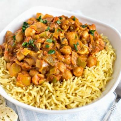 15 minute chickpea curry