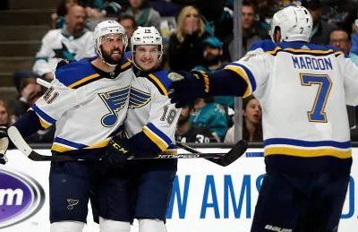 Blues' defence fuels offence as St. Louis evens series with Sharks