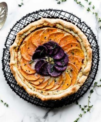 Savory Vegetable Cheese Tart