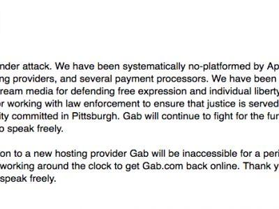 Far-right social network Gab goes offline after GoDaddy tells it to find another domain registrar