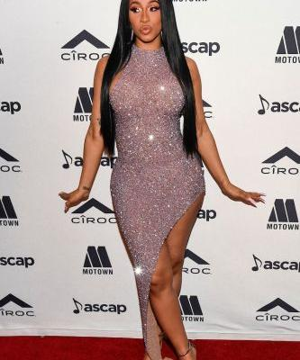 I'd Like to Say Hi to Cardi B's Sparkly Bodycon Dress and Cardi B's Sparkly Bodycon Dress *Only*