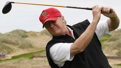 Trump interrupts CEOs' meeting to regale them with 'hole in 1' golf story