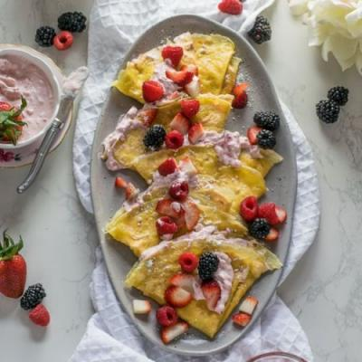 Grain-Free Crepes with Strawberry