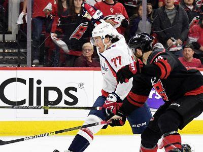 NHL playoffs 2019: Capitals' T.J. Oshie knocked out of game by Warren Foegele hit