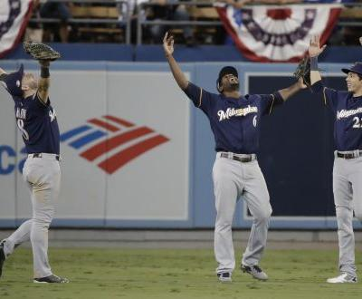 Brewers blank Dodgers 4-0 for 2-1 National League Championship Series lead