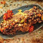 Spiced Pumpkin Pancakes with Caramelized apple Pecan Topping