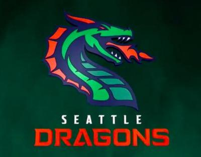 The XFL's Seattle Dragons are born, with a fiery green and red logo to match
