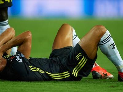 Cristiano Ronaldo left stunned and furious after receiving an absurd red card in first Champions League match with new club Juventus