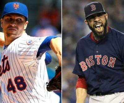 Jacob deGrom and David Price honored by NY baseball writers
