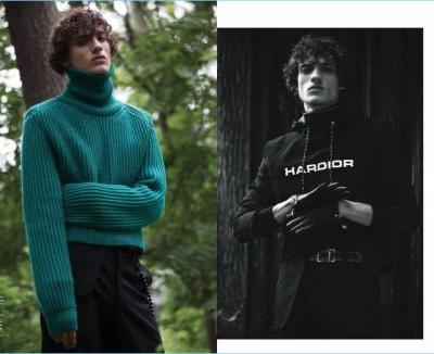Serge Rigvava Dons Dior Homme for Manifesto