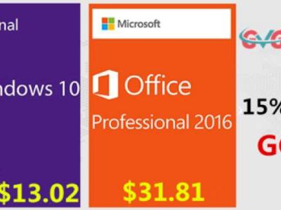 GVGMall Amazing Deals For Microsoft Windows 10 Pro just $13.02!