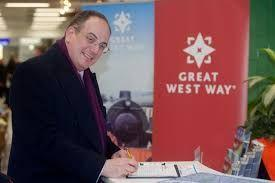 Michael Ellis, the UK tourism minister opens up the new Great West Way
