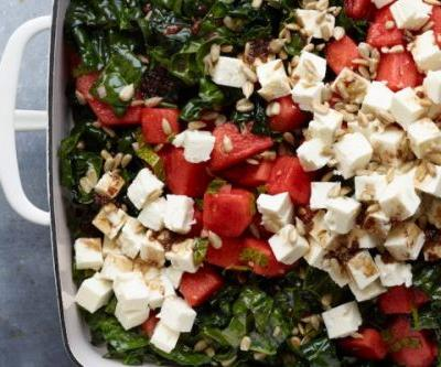 Watermelon, Kale and Feta Salad