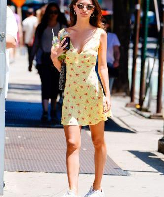 Emily Ratajkowski Found a New Summer It Dress to Wear With Sneakers