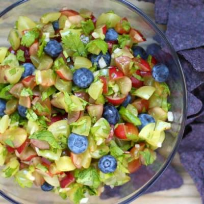 Grape and Blueberry Salsa