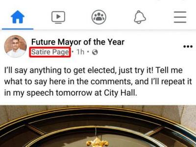 Facebook adds labels to satire pages because people can't tell what's real