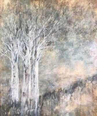 """""""Stand by Me"""", Original Mixed Media Painting by Colorado Artist, Donna L. Martin"""