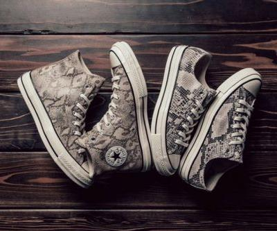 """The Coverse All Star 1970s Get A """"Snakeskin"""" Makeover"""