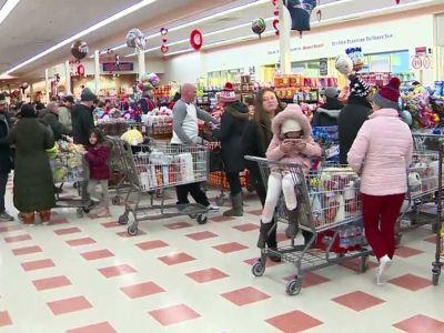 Shoppers stocking up for Super Bowl