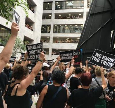 'People Are No Longer Afraid.' Hundreds of Women Protest As Kavanaugh's Fate Hangs in Balance