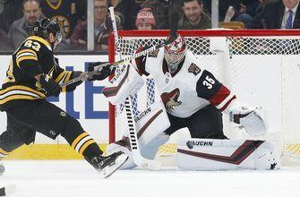 Marchand rallies Bruins past Coyotes