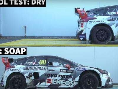 What Happens If You Launch A 600bhp Rallycross Car On Dish Soap?