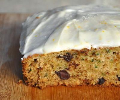 Spiced Zucchini Cake with Orange Cream Cheese Frosting