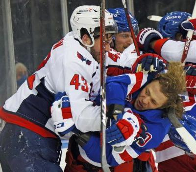 'It's just zero respect for the game.' Rangers lose as Capitals' Tom Wilson attacks three players