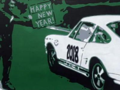 Race Into 2018 With This Awesome Porsche 911 Art Timelapse