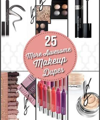 25 More Awesome Makeup Dupes