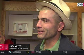 Joey Votto on the earthquake that happened during his 1st-inning PA