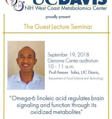 WCMC Guest Lecture: Ameer Taha, 'Omega-6 linoleic acid regulates brain signaling and function through its oxidized metabolites.'