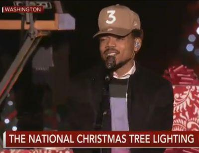 """Watch Chance The Rapper Perform """"Sunday Candy"""" At The White House's Christmas Tree Lighting"""