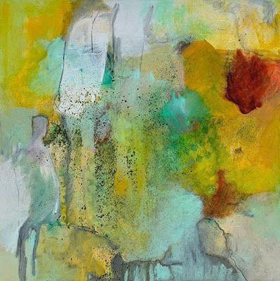 "Contemporary Painting, Abstract Art, Expressionism, Fine Art For Sale ""WHERE THE FINAL RAY LANDS"" by Contemporary Artist Liz Thoresen"