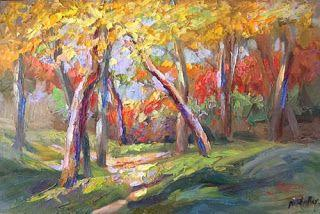 New Autumn Palette Knife Painting by Contemporary Impressionist Niki Gulley