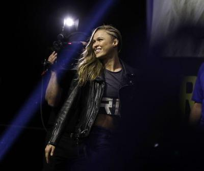 Ronda Rousey 'blew the roof off the joint' in her first ever wrestling match - watch the show-stopping performance here