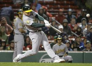 Emotional homer for Piscotty helps A's beat Red Sox 5-3