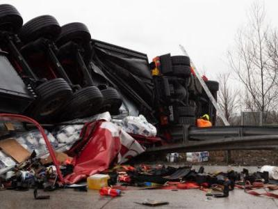 This month in overturned trucks: Broccoli, cooking oil, bushels of crabs
